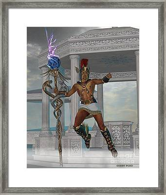 Hermes Messenger To The Gods Framed Print by Corey Ford