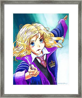 Hermione Framed Print by David Lloyd Glover