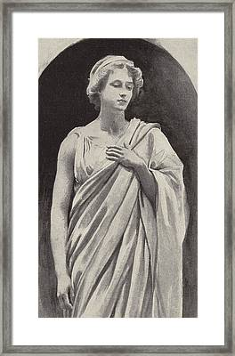 Hermione Framed Print by Harold Copping