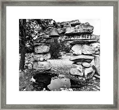 Hermit's Rest, Black And White Framed Print