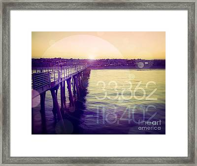 Framed Print featuring the photograph Hermosa Beach California by Phil Perkins