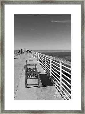 Hermosa Beach Seat Framed Print