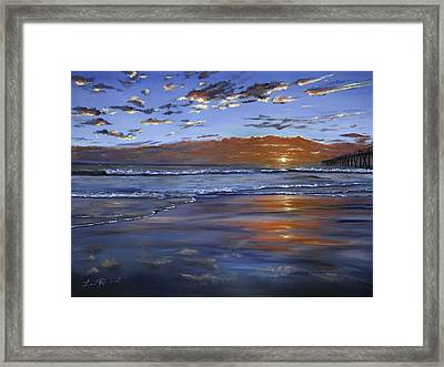 Hermosa Sunset Framed Print
