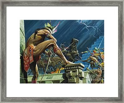Hernando Cortes Framed Print by Severino Baraldi