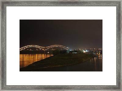 Hernando De Soto Bridge, Memphis, Tn Framed Print by Art Spectrum