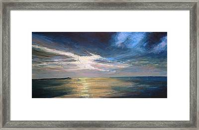 Herne Bay Sunset Framed Print by Paul Mitchell