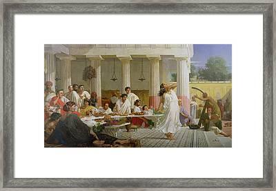 Herod's Birthday Feast Framed Print by Edward Armitage