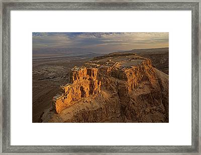 Herods Three-tiered Palace Cascades Framed Print by Michael Melford