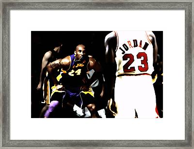 Heroes Come And Go But Legends Are Forever Framed Print
