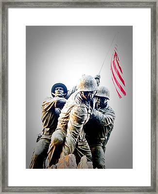 Heroes Framed Print by Julie Niemela