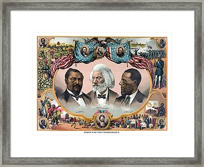 Heroes Of The Colored Race  Framed Print
