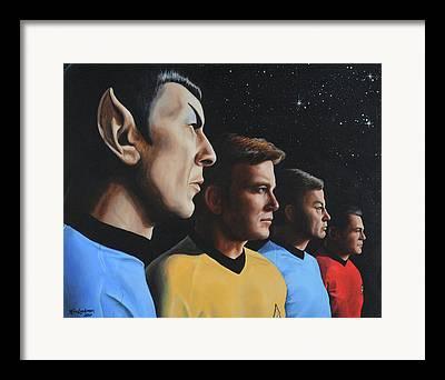 Uss Enterprise Paintings Framed Prints