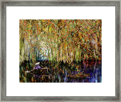 Heron Cove Framed Print by Gae Helton