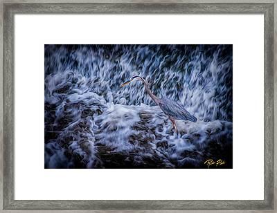 Heron Falls Framed Print