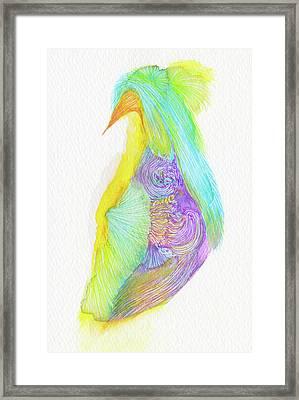 Heron - #ss16dw038 Framed Print by Satomi Sugimoto