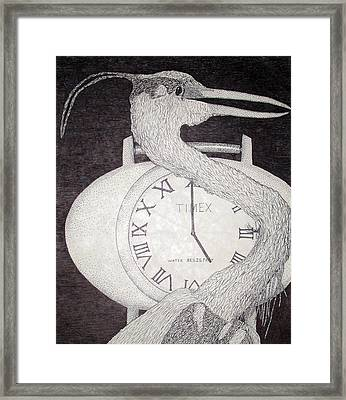 Heron Time Framed Print
