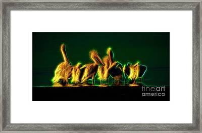 Herons At A Waterhole Framed Print