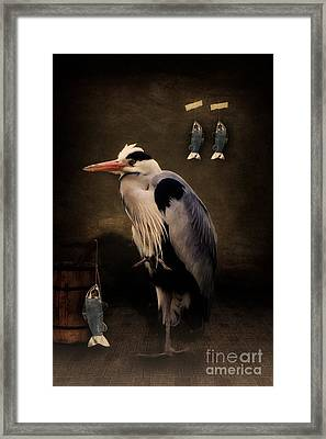 Heron's Home Framed Print by Angela Doelling AD DESIGN Photo and PhotoArt