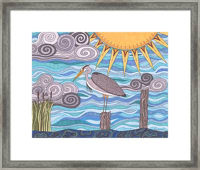 Heron's Watch Framed Print
