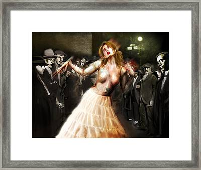 Herr Drosselmeyer's Doll Framed Print by Mandem