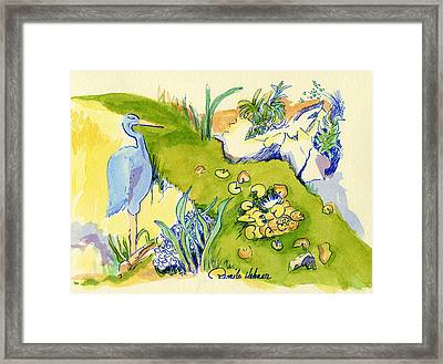 Herron Pond Framed Print by Pamee Hohner