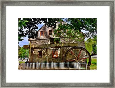 Framed Print featuring the photograph Herr's Grist Mill by Lisa Wooten