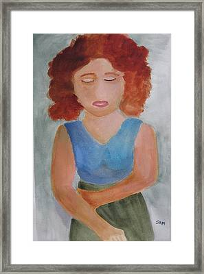 Framed Print featuring the painting Herself by Sandy McIntire