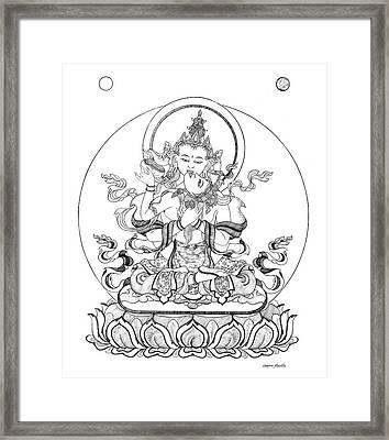 Heruka-vajrasattva -buddha Of Purification Framed Print by Carmen Mensink