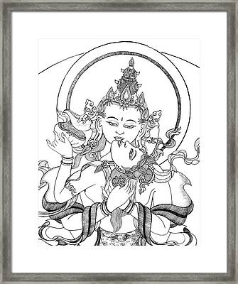 Heruka Vajrasattva Close-up Framed Print