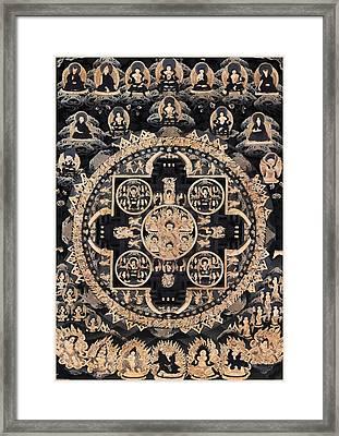 Heruka Yab Yum Mandala Framed Print