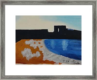 Herzliya Beach  Framed Print by Harris Gulko