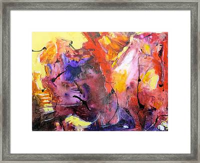 Hes Fire Mountain Framed Print