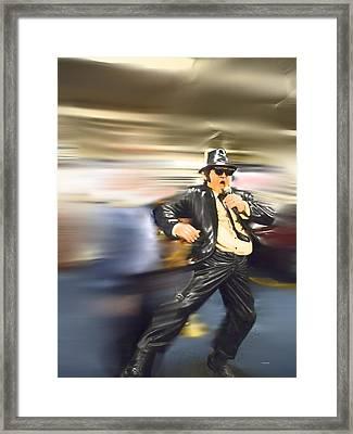 He's Rollin Framed Print