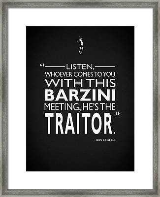 Hes The Traitor Framed Print by Mark Rogan