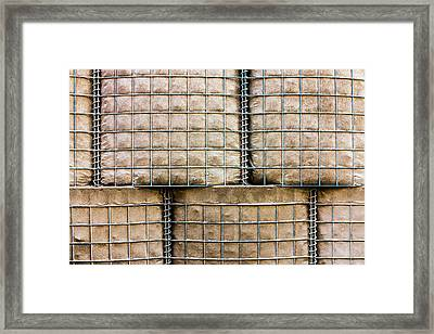 Hesco Barrier Stacks Framed Print