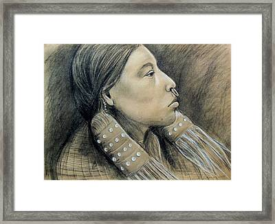 Hesquiat Maiden Framed Print