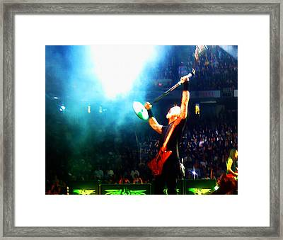 Hetfield Of Metallica Framed Print