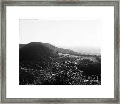 Heubach View Towards Scheuelberg Framed Print