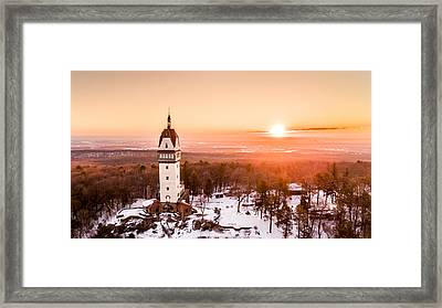 Heublein Tower In Simsbury Connecticut Framed Print