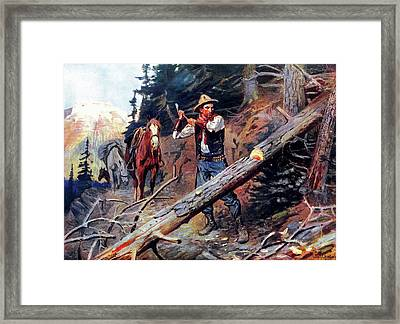 Hewing The Way Framed Print