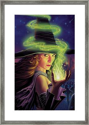 Hex Of The Wicked Witch Framed Print by Philip Straub