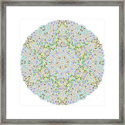 Hexagonal-based Pattern No.212.9 Framed Print