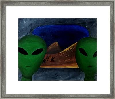 Hey Bob, I Think They Are Following Us.. Framed Print by Lola Connelly
