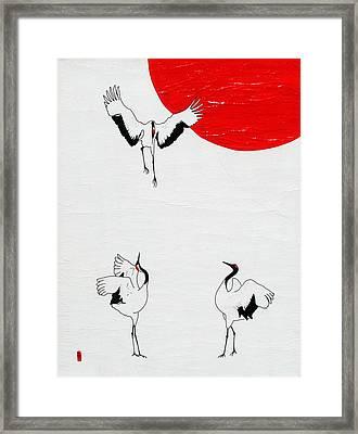 Hey Buddy Watch Where You're Landing Framed Print by Stephanie Grant