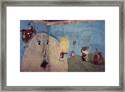 Hey Diddle Diddle Rhyme Framed Print
