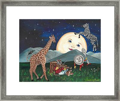 Hey Diddle Diddle Framed Print by Sundara Fawn
