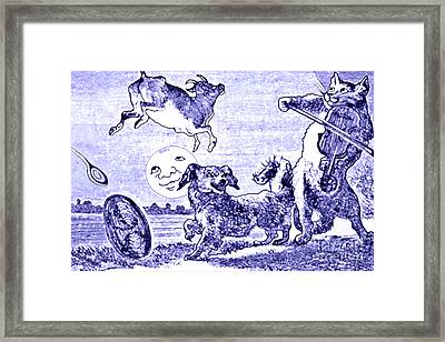Hey Diddle Diddle The Cat And The Fiddle Nursery Rhyme Framed Print