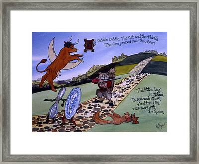 Hey Diddle Diddle Framed Print by Victoria Heryet