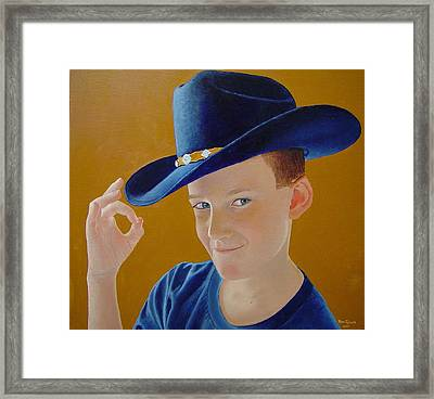 Hey Dude Framed Print by Ron Sylvia