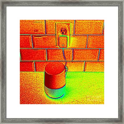 Heat Map Hey Google How Can You Help Me Framed Print by Richard W Linford